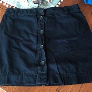 NWT J. Crew navy blue skirt size 6 back to school